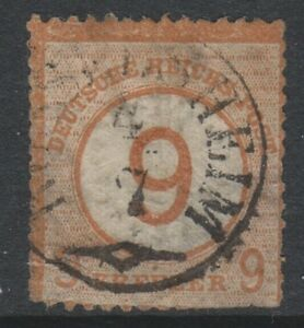 Alemania - 1874 , 9k Castaño Sello - Usado - Sg 30 ( Cat.