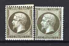 "FRANCE STAMP TIMBRE 19 + 19a  "" NAPOLEON 1c OLIVE + 1c BRONZE "" NEUFS x TB  P903"