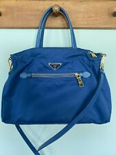 Blue Authentic Prada Handbag