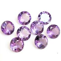 Wholesale Lot 5mm to 10mm Round Facet Natural Amethyst Loose Calibrated Gemstone