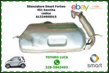 Silenziatore Marmitta Catalizzatore Scarico Smart ForTwo 451 benzina A1324900015