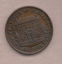 L@@K Canada 1844 Bank of Montreal ½ Penny Token ~ PC-1B5 ~ Very-Fine++ Condition