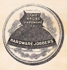 Kruse Hardware Cutlery Axe Cincinatti Ohio 1916 2c Washington Coil Cover 2q