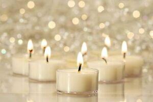 100% Pure Raw Beeswax Tea Lights Candles Organic Hand Made, IVORY