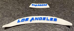LA Chargers Front & Rear 3D Bumpers Riddell F/S Speed Flex Helmet JUSTIN HERBERT