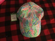 LILLY PULITZER CATCH THE WAVE BASEBALL CAP RUN AROUND HAT NWT