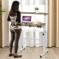 Sit Stand Office Computer Desk Adjustable Workstation Laptop Table W/ Wheels V