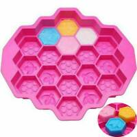 19 Cell Silicone Honeycomb Bee Handmade Soap Mold Cake Chocolate Candle Mould