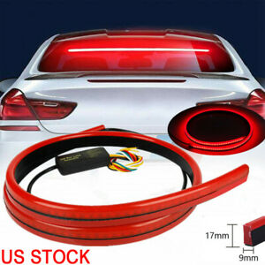 144LED Red Tail Brake Stop Light Roofline Sign Light High Brake Kit Rear Strip