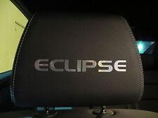 (4pcs) Headrest badge sticker decal Mitsubishi * ECLIPSE*