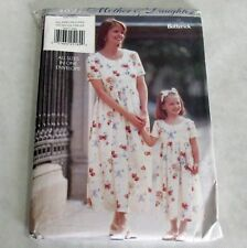 Butterick Vintage 1990s Pattern 4897 Mother Daughter Matching Dresses All Sizes
