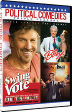 Political Comedies: Swing Vote / Blaze / Wrong Is (2016, DVD NEW)