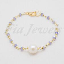 Bracciale rosario giada lavanda e perle Gioielli Artigianali Pietre Naturali