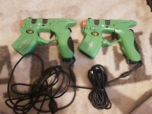 Microsoft Xbox Original Mad Catz Blaster Light Gun Game Controller Green