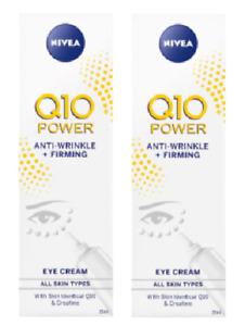 2 x Nivea Q10 Power Anti-Wrinkle + Firming Eye Cream (2 x 15ml)