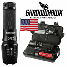 20000lm Genuine Shadowhawk X80 LED Tactical Flashlight Military Grade Torch Lamp