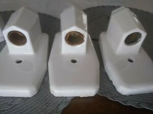 Four Identical Vintage ART DECO Porcelain Wall Sconces