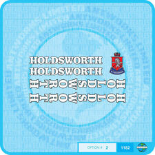 Holdsworth - Bicycle Decals Transfers Stickers - White With Black Key - Set 2