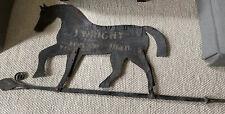 More details for xxl 6 ft  vintage antique metal decorative folk art horse  blacksmith sign