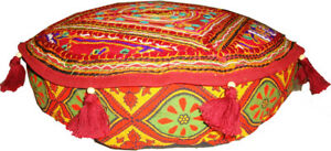 Ottoman pouffe seating floor foot rest seat cover case elegant glamour round
