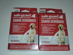 2 -Safe Guard 4 Canine Dewormer For Large Dog. Roundworm Hookworm Tapeworm 07/20