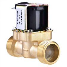 """3/4"""" DC 24V Normally Closed Brass Electric Solenoid Magnetic Valve Water Control"""