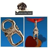 TAGABINER: STRONG & SECURES PET ID TAGS ON DOG/CAT COLLAR/S NO S-RING/SPLIT RING