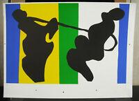 """Print Plank Test Printer Henri Matisse """" The Cow Boy """" c2004 25 5/8in Jazz"""