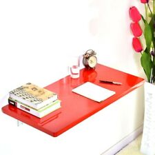 Red Wall Mount Floating Folding Computer Desk Home Office PC Table For Sale