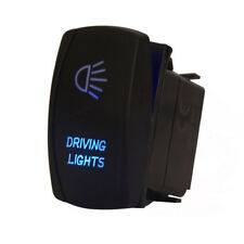 Universal Car Blue LED Driving Lights Bar Laser Rocker Switch 5 Pins On-Off