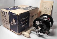 Vintage True Temper OCEAN CITY No. 981 w. BOX & MANUAL Conventional Fishing Reel