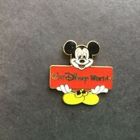 Walt Disney World - Mickey Mouse Holding Red Sign - Disney Pin 374