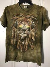 The Mountain T-Shirt Lion Dreadlocks Headphones Men's Size Small