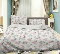 3D Floral Leaves Plant Quilt Cover Sets Pillowcases Duvet Comforter Cover
