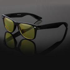 Classic Vintage HD NIGHT DRIVING VISION SUNGLASSES YELLOW HIGH DEFINITION GLASS