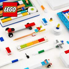 LEGO Stationery Set Pen Pencil Marker Eraser Ruler Sharpener Bricks Official New