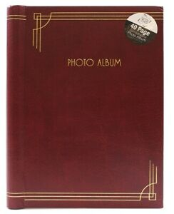 Red - 8 x 6 inch Self Adhesive Photo Album 40 Pages Bookbound Camera
