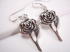 Flowers Dangle Earrings 925 Sterling Silver Corona Sun Jewelry rose
