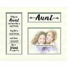 Grey Dotty Memory 10 X 8 Photo Frame Special Aunt Verse Poem Mount Print Gift