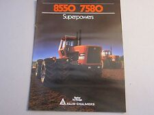 Original Allis Chalmers Tractor 8550 7580 Dealer Sales Brochure Manual