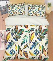 3D Art Paint Leaf 67 Bed Pillowcases Quilt Duvet Cover Set Single King UK Summer