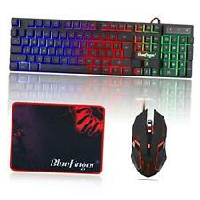 New listing Rgb Gaming Keyboard and Backlit Mouse Combo, Usb Wired Backlit Keyboard, Led