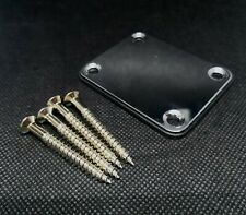 More details for neck plate with 4 screws for fender strat electric guitar/bass uk 1st class
