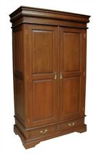 Solid Mahogany Double Sleigh Wardrobe with 2 Drawers ARM008