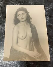 Vintage Black & White Lg Nude Studio Girl Pinup Art Photo