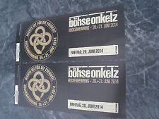 Böhse Onkelz Hockenheimring 2014 **2 limitierte Hardtickets**