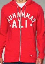 NWT Muhammad Ali Roots Of Fight Under Armour Hoodie Red 3 Time Champion Size L