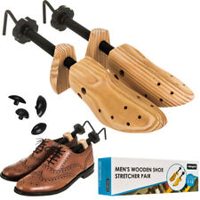 2 x MENS GENTS SHOE STRETCHERS TREE WOODEN SHAPER BUNION CORN BLISTER SIZE 7-12