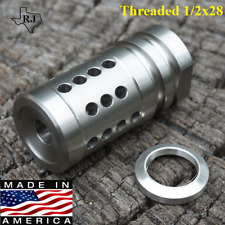 1/2x28 FCX-223 Precision Comp Stainless Steel Muzzle Brake+Crush Washer USA