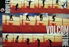 VOLCOM 2006 Geoff Rowley skateboard promotional poster New Old Stock Flawless